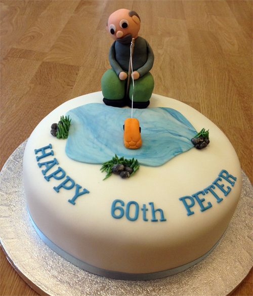 Fishing birthday cake say it with flours for Fish birthday cake
