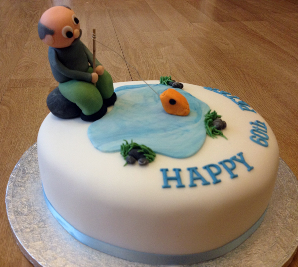 Fishing Birthday Cake Say It With Flours