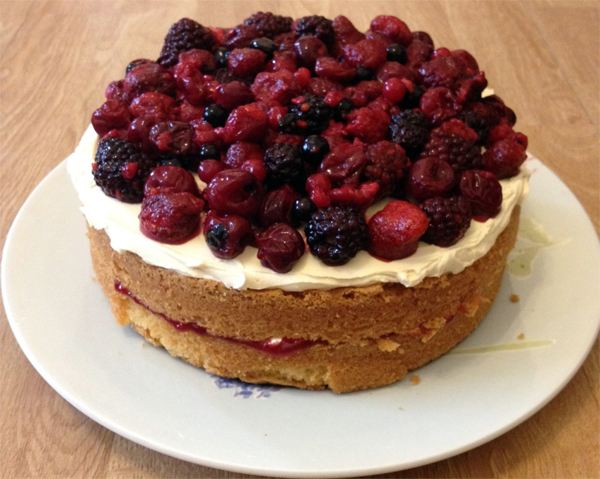 Summer Fruit Sponge Cake Recipe Say It With Flours