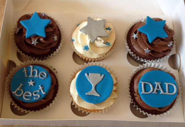 fathers day cupcakes say it with flours. Black Bedroom Furniture Sets. Home Design Ideas