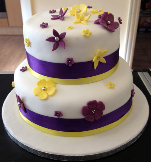 purple and yellow wedding cake ideas purple amp yellow wedding cake say it with flours 18887