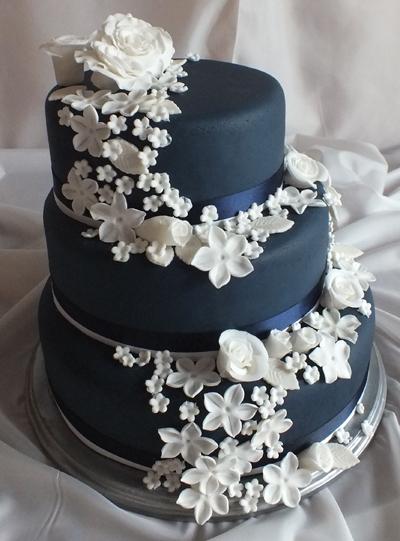 Jackie Navy Wedding Cake